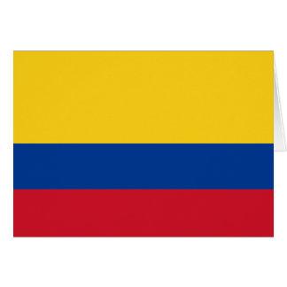Carte Drapeau de la Colombie
