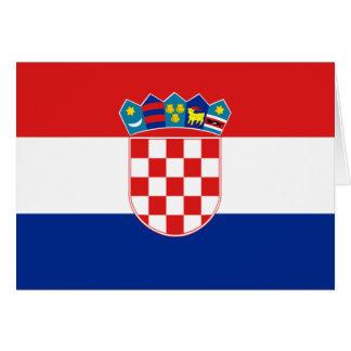 Carte Drapeau de la Croatie