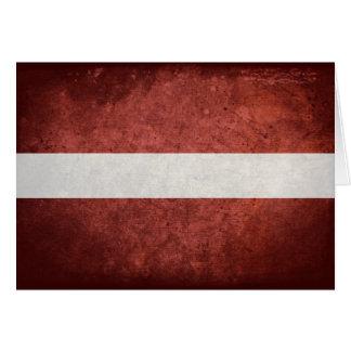 Carte Drapeau de la Lettonie