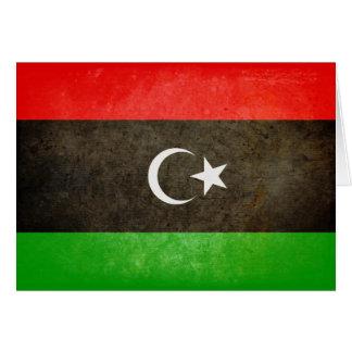 Carte Drapeau de la Libye