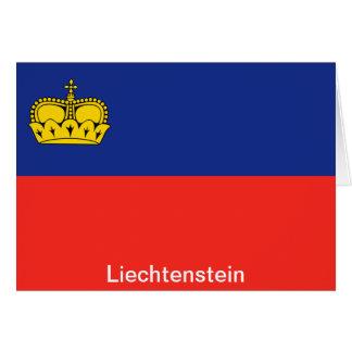Carte Drapeau de la Liechtenstein