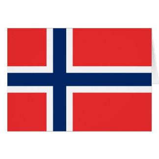 Carte Drapeau de la Norvège