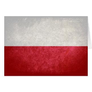 Carte Drapeau de la Pologne
