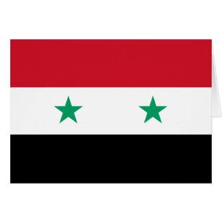 Carte Drapeau de la Syrie
