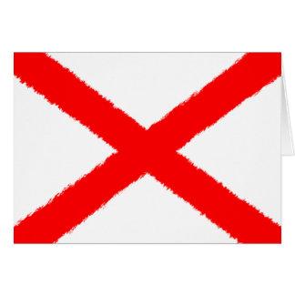 Carte Drapeau de l'Alabama