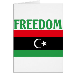 Carte Drapeau de liberté de la Libye