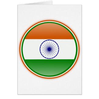 Carte Drapeau de l'Inde