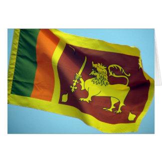 Carte drapeau de lion