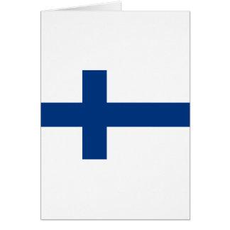 Carte Drapeau de lippu de la Finlande - du Suomen -