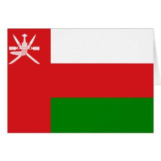 Carte Drapeau de l'Oman