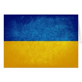 Carte Drapeau de l'Ukraine