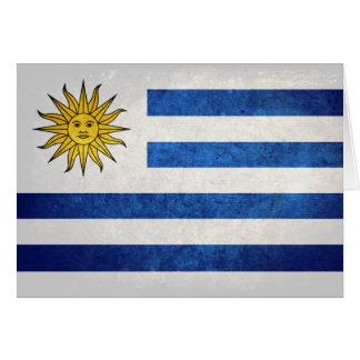 Carte Drapeau de l'Uruguay