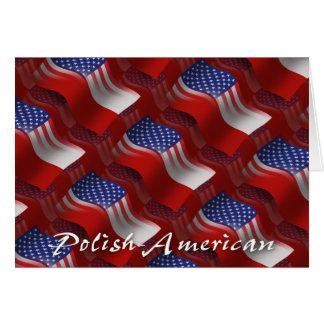 Carte Drapeau de ondulation Poli-Américain