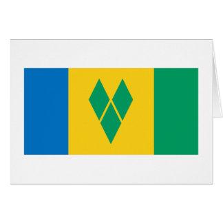Carte Drapeau de Saint-Vincent-et-les-Grenadines