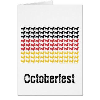 Carte Drapeau de teckels d'Oktoberfest