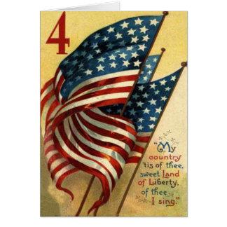 Carte Drapeau des USA 4 juillet