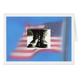 Carte Drapeau des USA, bottes de combat militaires