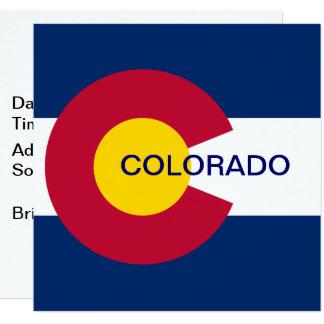 Carte Drapeau d'état du Colorado