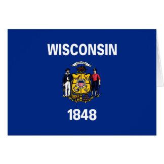 Carte Drapeau d'état du Wisconsin
