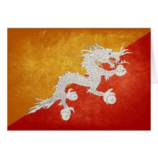 Carte Drapeau du Bhutan