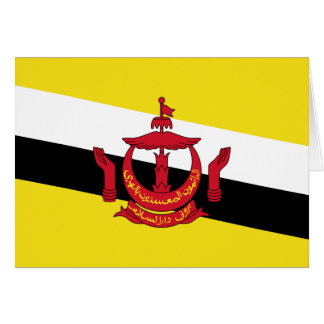 Carte Drapeau du Brunei ; Bruneian