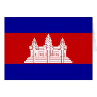Carte Drapeau du Cambodge