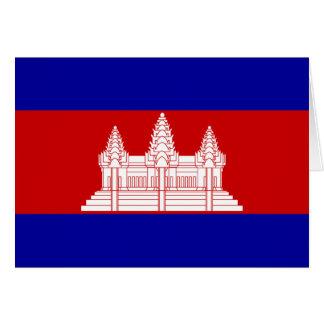 Carte Drapeau du Cambodge ; Cambodgien