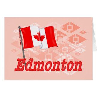 Carte Drapeau du Canada - Edmonton