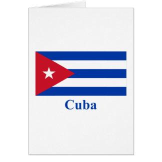Carte Drapeau du Cuba avec le nom
