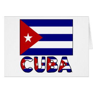 Carte Drapeau du Cuba et obscurité de mot