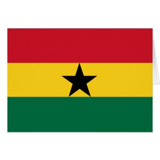 Carte Drapeau du Ghana