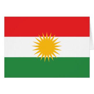 Carte Drapeau du Kurdistan