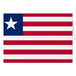 Carte Drapeau du Libéria