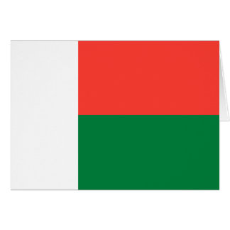 Carte Drapeau du Madagascar
