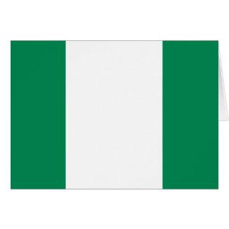 Carte Drapeau du Nigéria