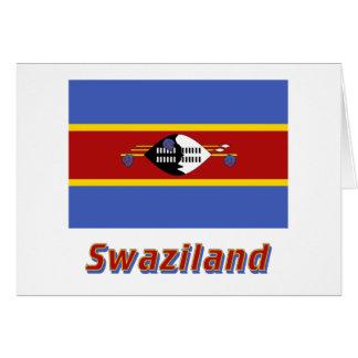 Carte Drapeau du Souaziland avec le nom