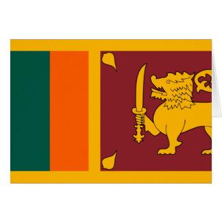 Carte Drapeau du Sri Lanka