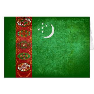Carte Drapeau du Turkménistan