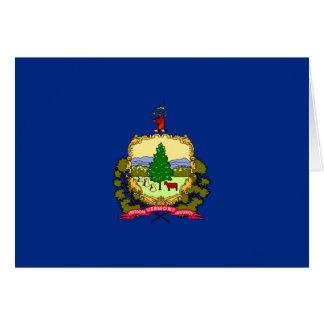 Carte Drapeau du Vermont