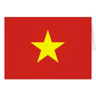 Carte Drapeau du Vietnam