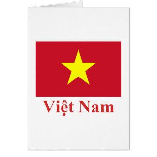 Carte Drapeau du Vietnam avec le nom dans le Vietnamien