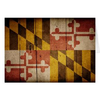 Carte Drapeau en bois rocailleux du Maryland