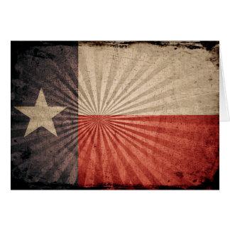 Carte Drapeau grunge frais du Texas
