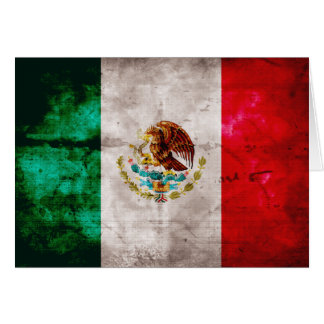 Carte Drapeau mexicain patiné