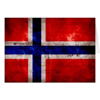 Carte Drapeau norvégien