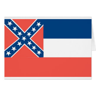 Carte Drapeau officiel d'état du Mississippi