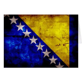 Carte Drapeau patiné de la Bosnie