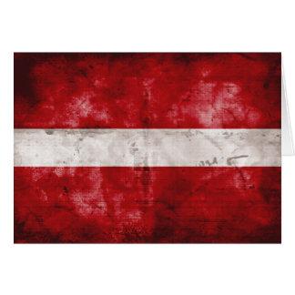 Carte Drapeau patiné de la Lettonie