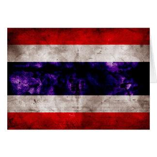 Carte Drapeau patiné de la Thaïlande