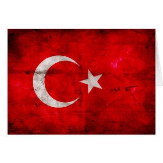 Carte Drapeau patiné de la Turquie